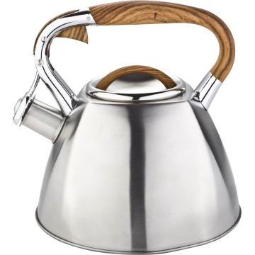 Tea pot with wooden fix handle