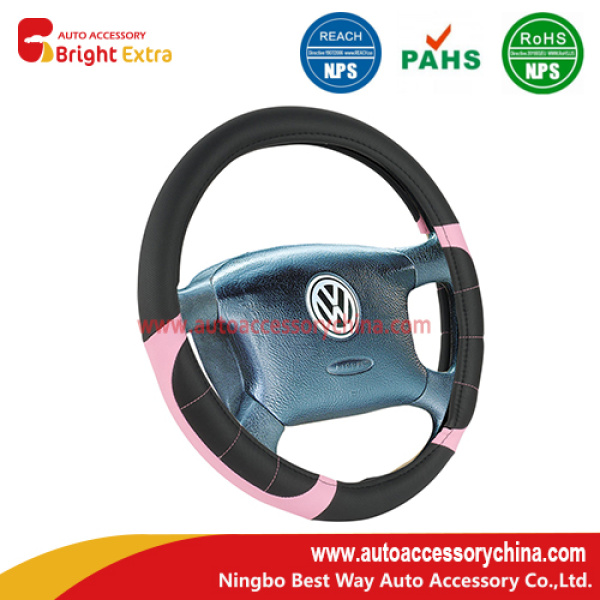 Pink And Black Steering Wheel Cover