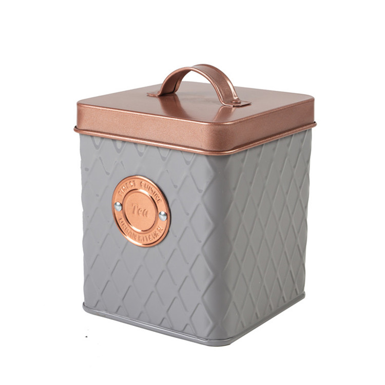Copper plate Tin Canister