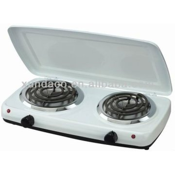 2 Burner Durable Hot Plate with Cover