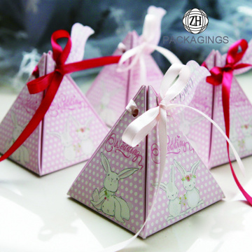 Triangular Pyramid Paper Wedding Candy Gift Boxes