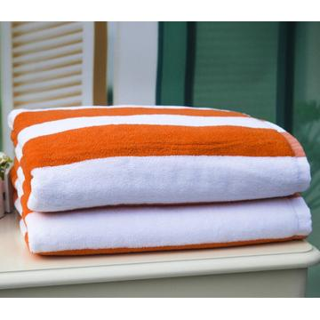 100% Cotton Yellow White Stripe Hotel Pool Towels