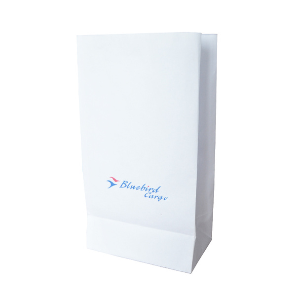 flat bottom airline    airsickness bag