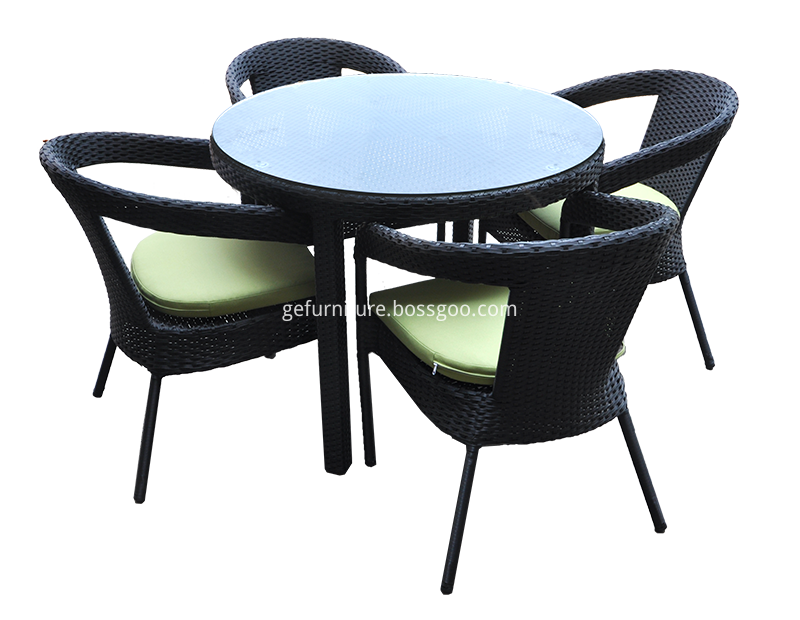 Rattan Round Patio Dining Set