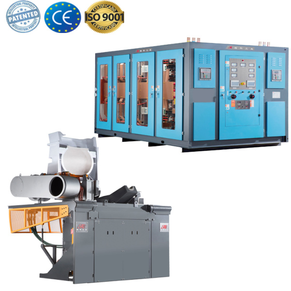 Small steel shell induction furnace for metal melting