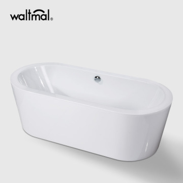 Simple White Freestanding Bath
