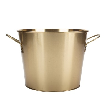 Ice Bucket Gold With Carry Handles