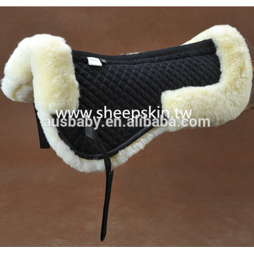 Lambskin saddle half pad