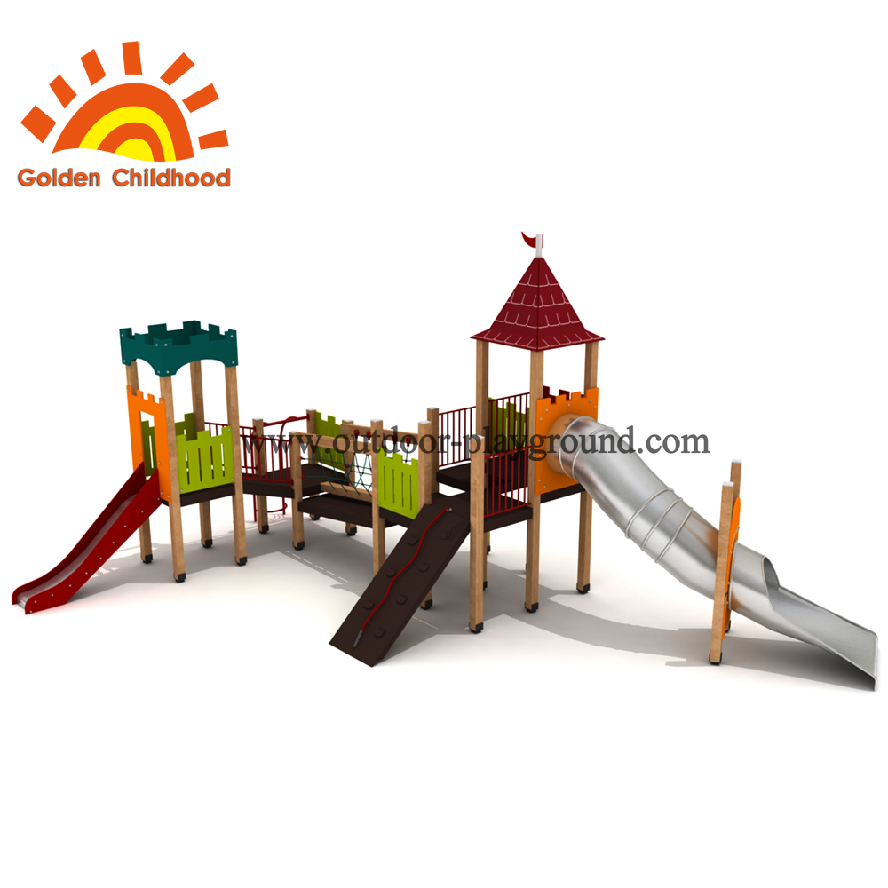 Tower Combination Slide Tube For Children Playground