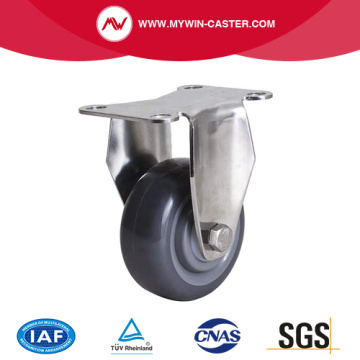 Medium 5 Inch 250Kg Threaded Brake TPU Caster