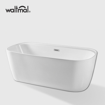 Chamfer Rectangle Acrylic Free Standing Bathtub