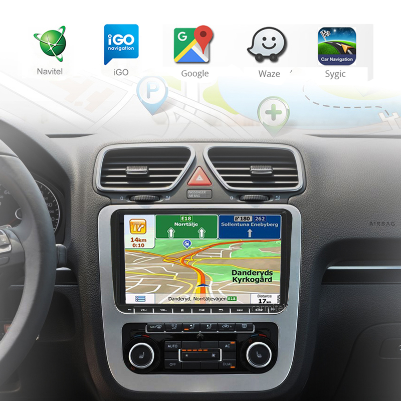 2 Din GPS Navigation system  For Toyota Vios Yaris 2014
