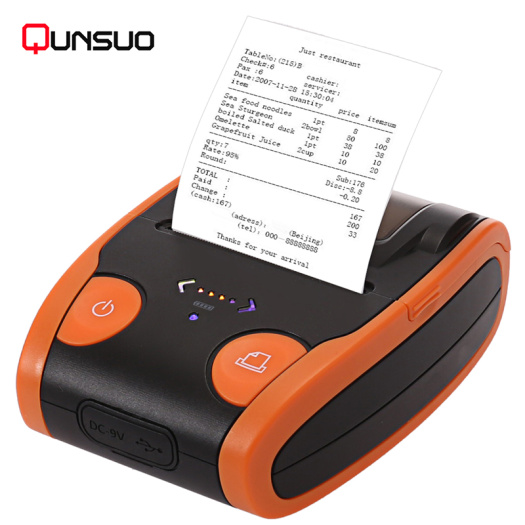 Portable mobile Bluetooth thermal printer 203 dpi