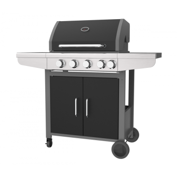 4 &1 Burner Black Gas Barbecue Grill