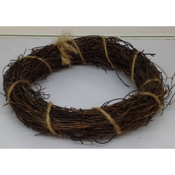 Diy natural bare circle rattan ring