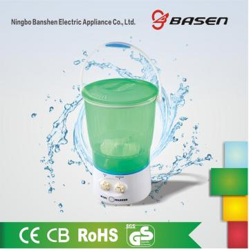 Green Plastic 2KG Mini Transparent Washing Machine