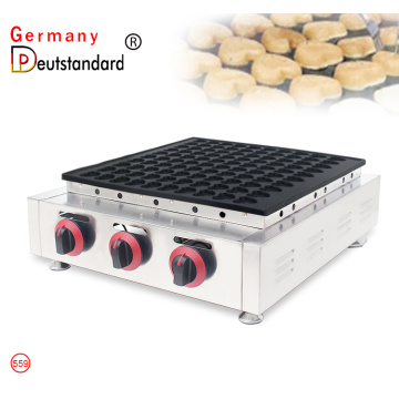 Commercial 100 holes mini dutch gas poffertjes grill