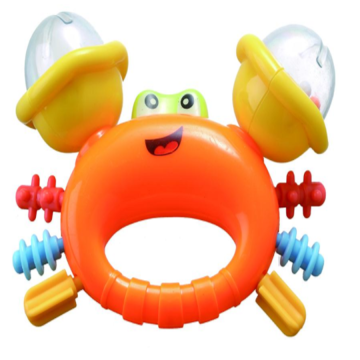 Cute Crab shape baby bell toy