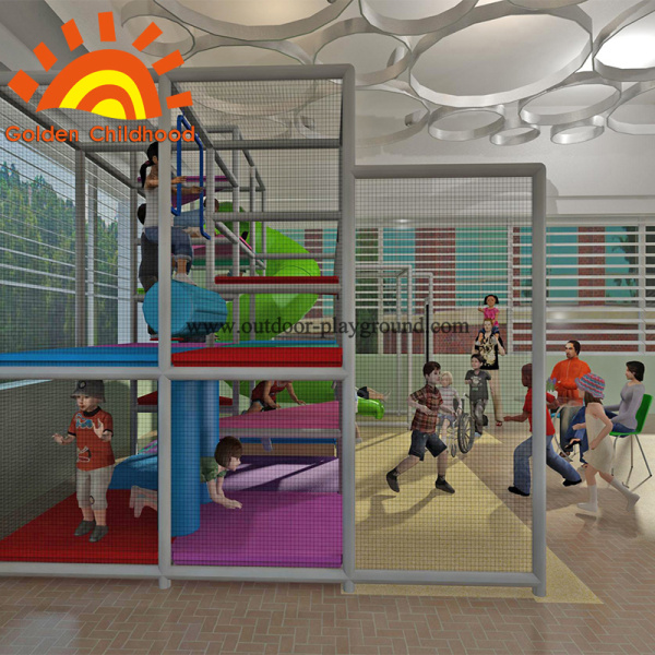 Kids Play Structure Equipment With Tube Slide