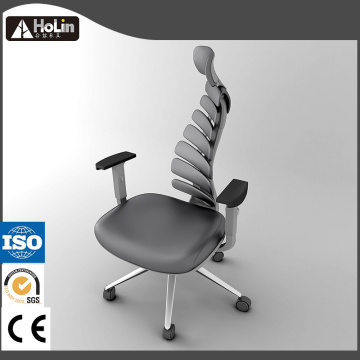 Fish Body Bone Design Ergonomic PU Office Chair