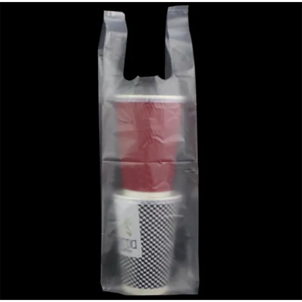 Plastic Clear T-Shirt Retail Drinks Bags