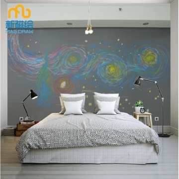 Large Magnetic Childrens Chalkboard Wall for Kid Room