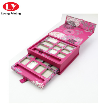 Custom Logo High Pigmented Pink Eyeshadow Palette Packaging