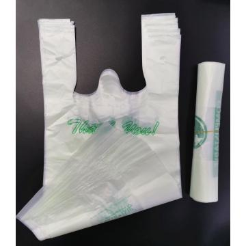 Compostable T-Shirt Type Supermarket Plastic Bags