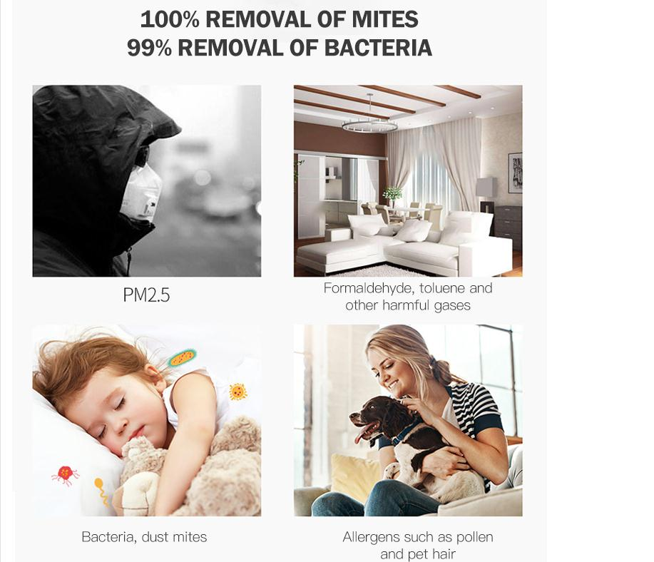 99% removal of bacteria
