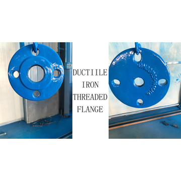 Ductile iron threaded flange