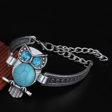 Bohemian Vintage Style Turquoise Delicate Carving Bracelet