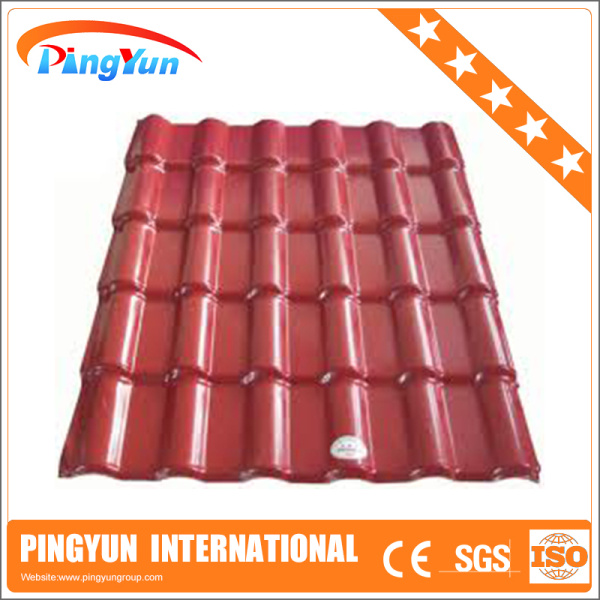 Anti corrosion plastic tiles roofing price/pvc roofing tile