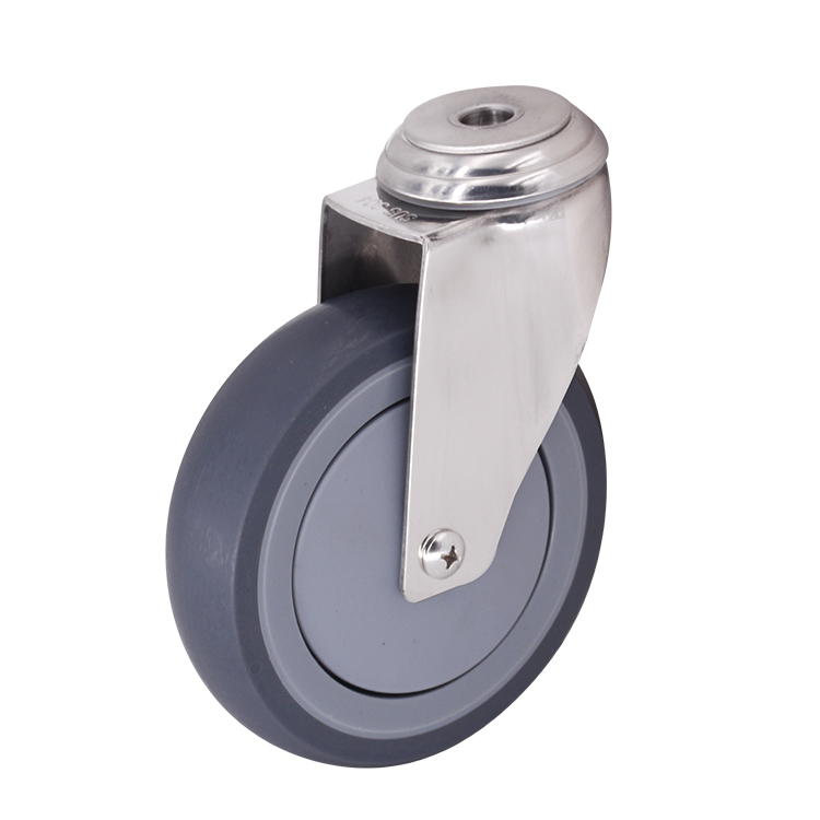 Bolt Hole 5 Inch Tpr Caster