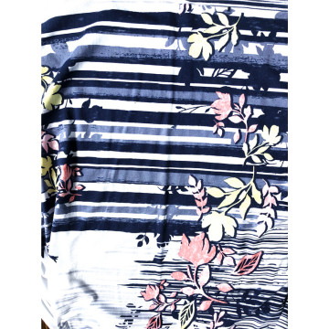 Cotton model 50/50 floral jersey print fabric