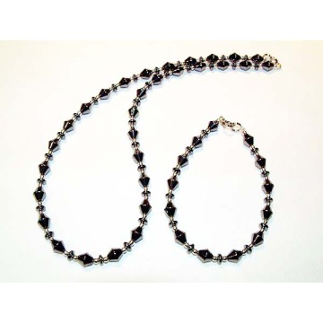 Hematite Set Darkgray Jewelry
