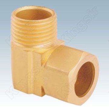 Brass Right Angle Duplex Fitting