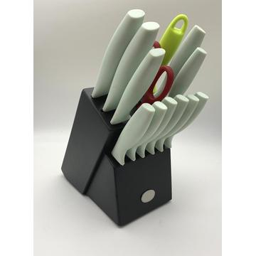 14pcs kitchen block knife set