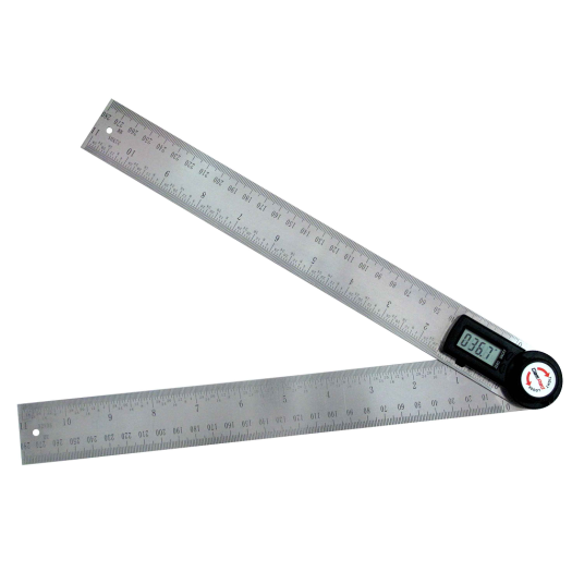 Mechanical Hand Tools 300mm Stainless Steel Different Woodshop Hand Tool Digital Angle Ruler