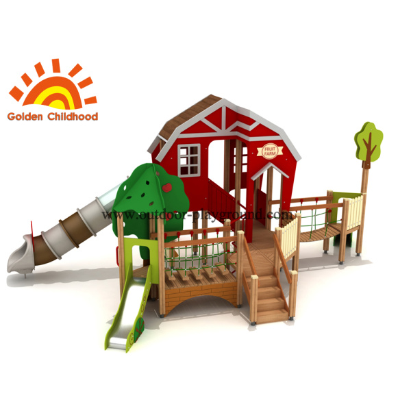 Red Playhouse Outdoor Playground Equipment For Sale