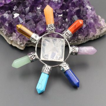 7 color Pyramid Crystal Pendant