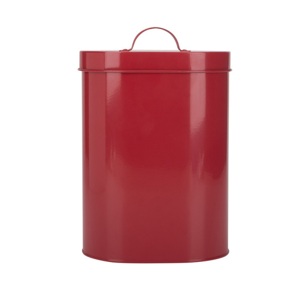 Red pet food storage bin