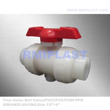 Two Way PVDF Ball Valve PN10