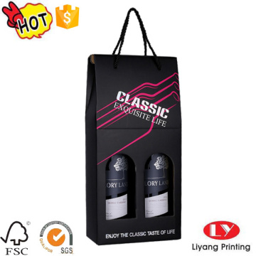 Custom portable wine bottle gift packing carrier