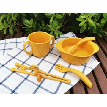 Bio Children's tableware Bowl Cup Fork Chopsticks Spoon
