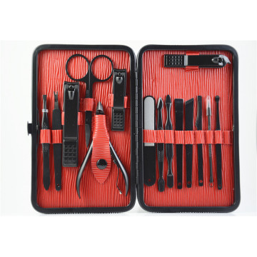 Manicure and pedicure set black oxide