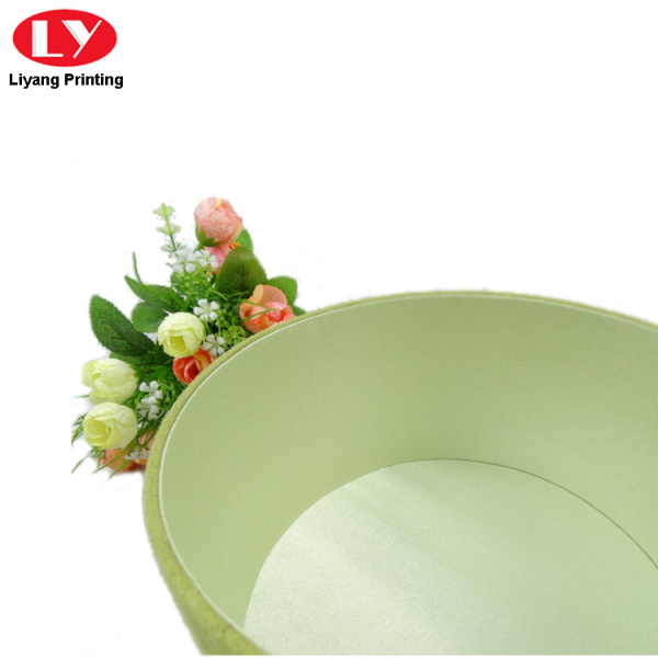 Luxury Cardboard Velvet Round Flower Box