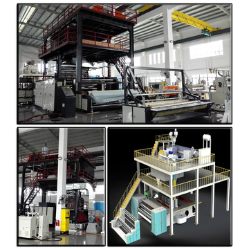 spunbond nonwoven fabric making machine with new design