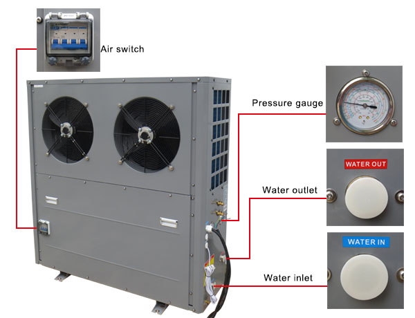 Ambient Air Water Heat Pump Evi