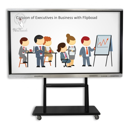 98 inches smart whiteboard with mobile stand