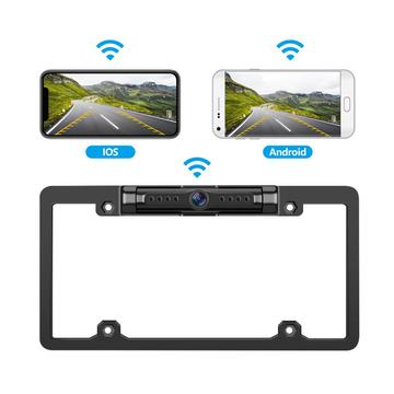 WiFi Car Backup Camera for USA License Frame